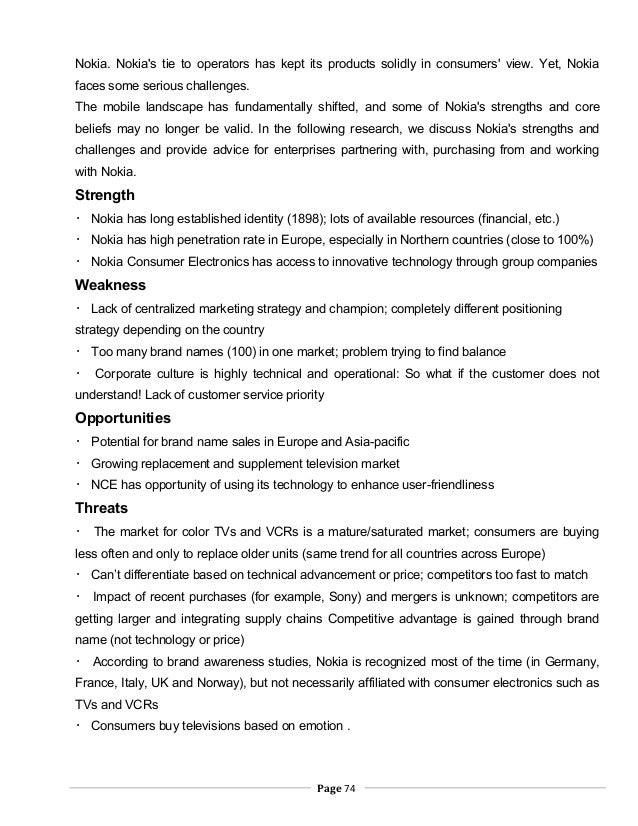 an analysis of the nokia long established identity on swot strength Swot analysis nokia was once the largest seller of mobile phones in the world it was mainly due to its durability and reliability provided by its mobile phones (fine, 2009.