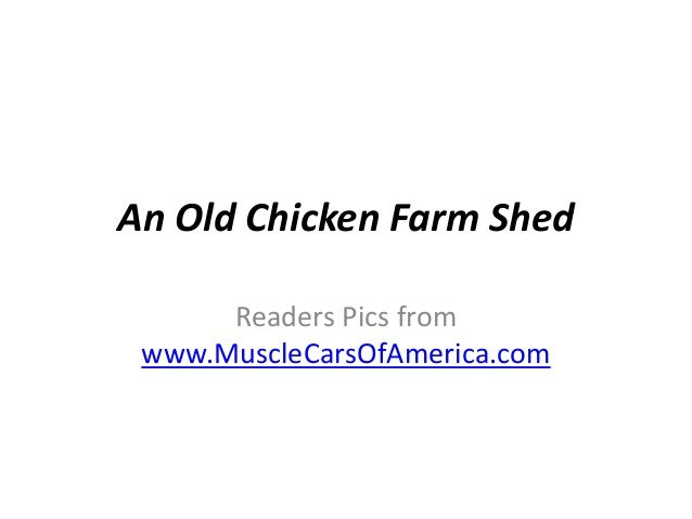 An Old Chicken Farm Shed      Readers Pics from www.MuscleCarsOfAmerica.com
