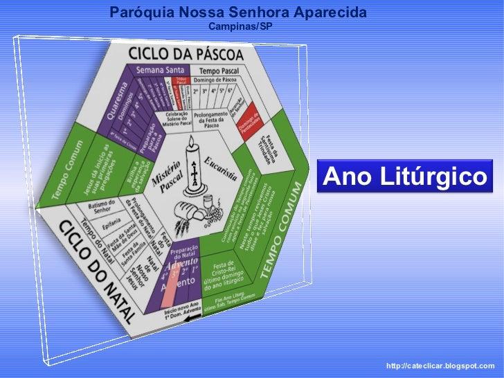 http://cateclicar.blogspot.com Paróquia Nossa Senhora Aparecida  Campinas/SP Ano Litúrgico