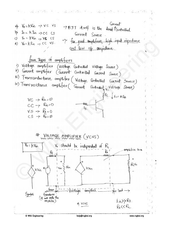 3rd sem analog electronic circuits notes pdf