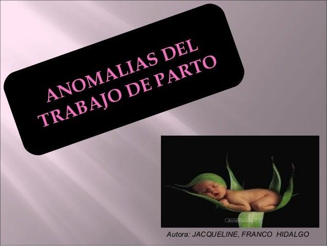 EL          S D TO       LIA AR    MA E PA NO JO D RABAT           Autora: JACQUELINE, FRANCO HIDALGO