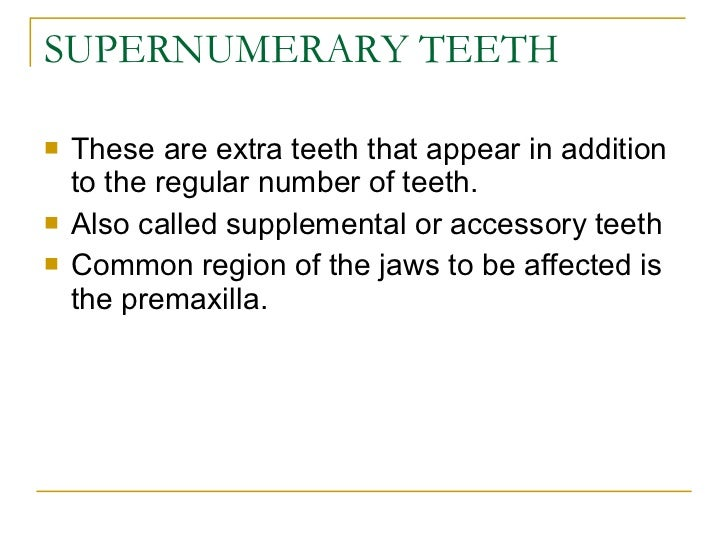 Anomalies of tooth formation & eruption Slide 3