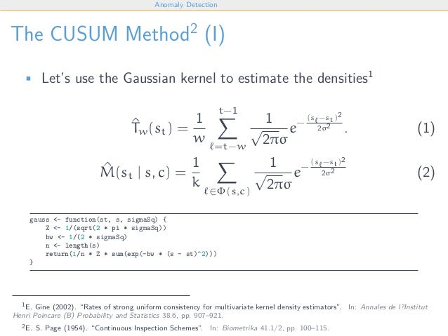 An Introduction into Anomaly Detection Using CUSUM