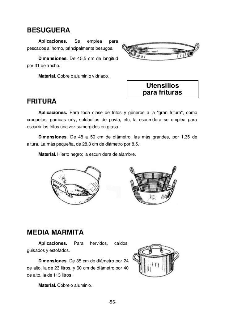 Anon curso de cocina profesional for Instrumentos de cocina profesional