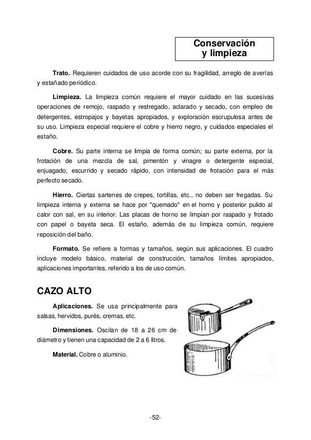 Anon curso de cocina profesional - Limpieza de cobre ...