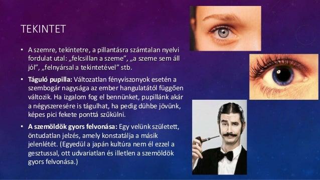 """TEKINTET • A szemre, tekintetre, a pillantásra számtalan nyelvi fordulat utal: """"felcsillan a szeme"""", """"a szeme sem áll jól""""..."""