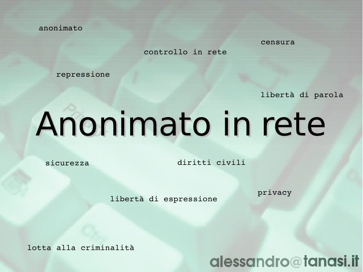 anonimato                                                 censura                          controllo in rete       repress...