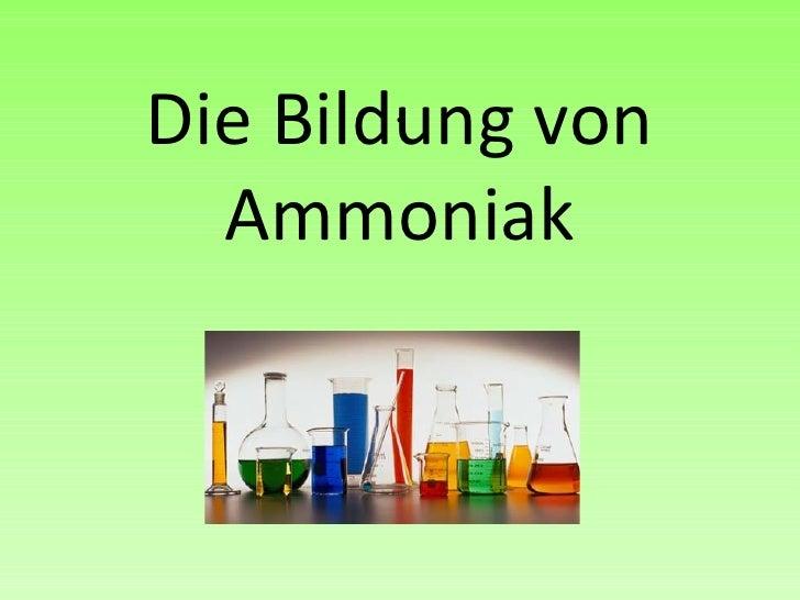 . Die Bildung von Ammoniak