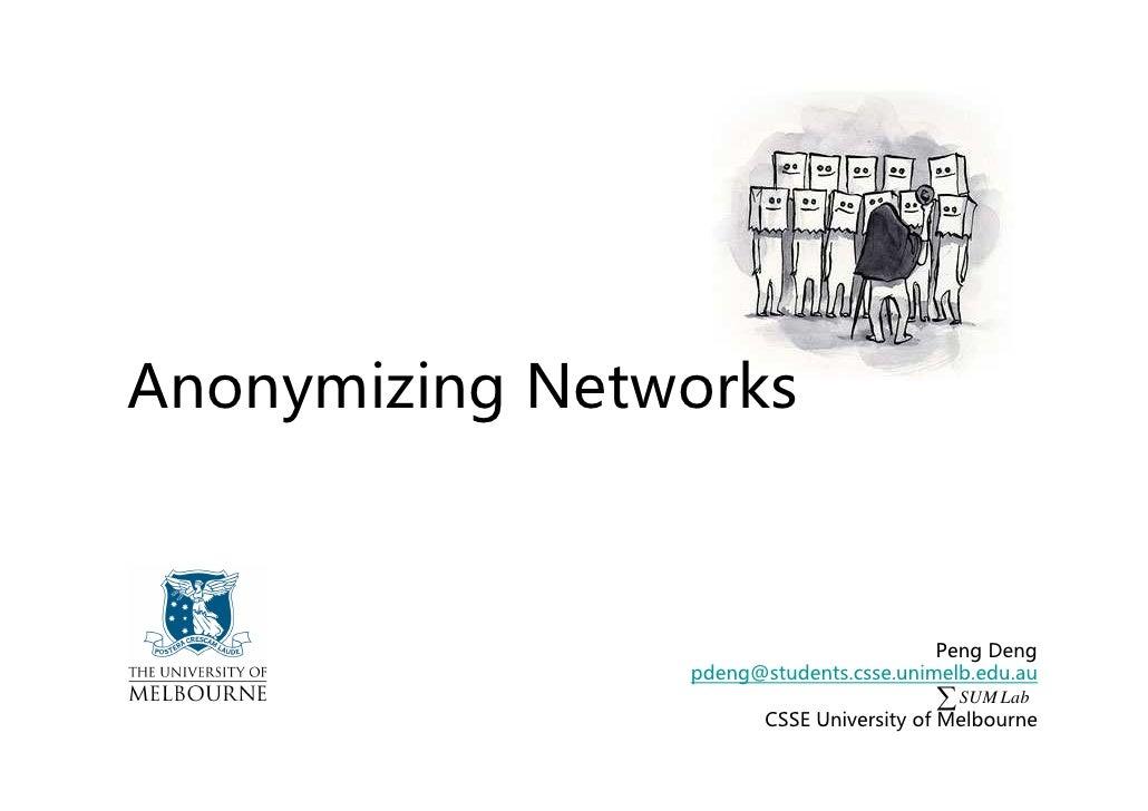 Anonymizing Networks                                             Peng Deng                 pdeng@students.csse.unimelb.edu...