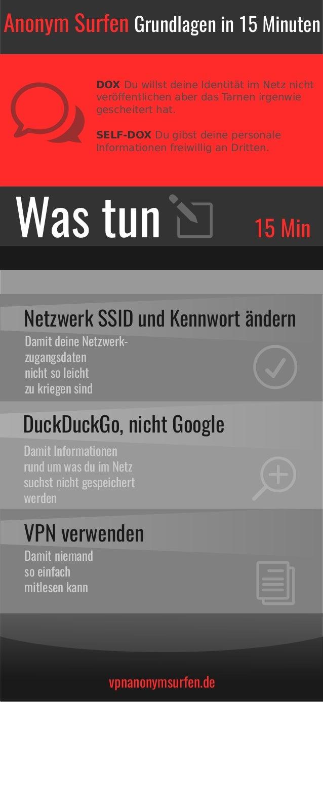 vpnanonymsurfen.de DOX Du willst deine Identität im Netz nicht veröffentlichen aber das Tarnen irgenwie gescheitert hat. SE...