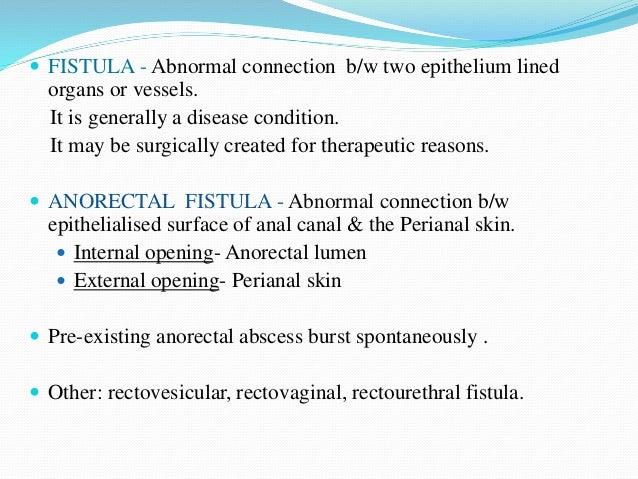 Anorectal fistula  Slide 2