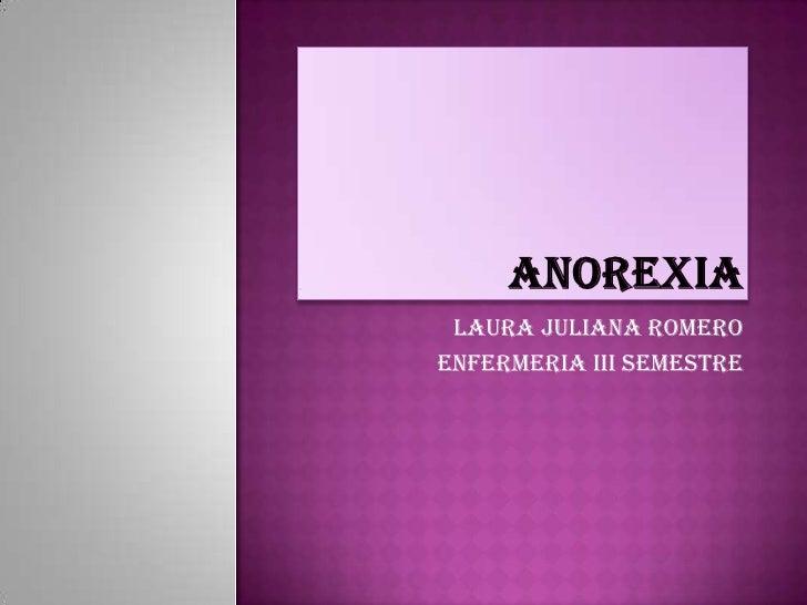 LAURA JULIANA ROMEROENFERMERIA III SEMESTRE