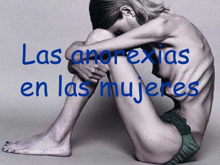 Las anorexias  en las mujeres