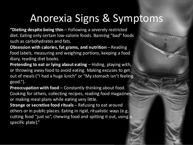 an argument on eating good food versus having anorexia nervosa Like starving themselves to feel good anorexia and bulimia nervosa are  nervosa anorexia is an eating  versus women with anorexia.