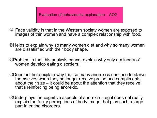 Biological explanation of anorexia essay