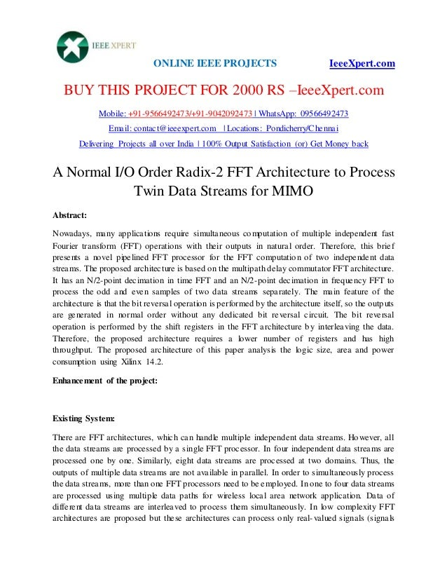 ONLINE IEEE PROJECTS IeeeXpert.com BUY THIS PROJECT FOR 2000 RS –IeeeXpert.com Mobile: +91-9566492473/+91-9042092473 | Wha...