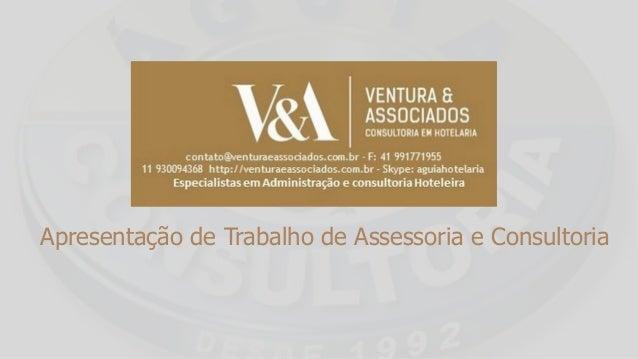 Apresentação de Trabalho de Assessoria e Consultoria