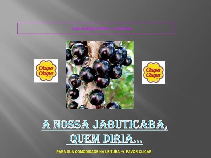 Texto de Regina Pereira – via InternetPARA SUA COMODIDADE NA LEITURA  FAVOR CLICAR