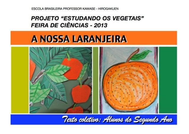 """A nossa laranjeira - Projeto: Estudando os Vegetais"""""""