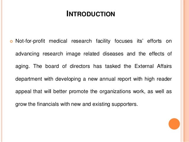 A Not for Profit Medical Research Center Slide 2