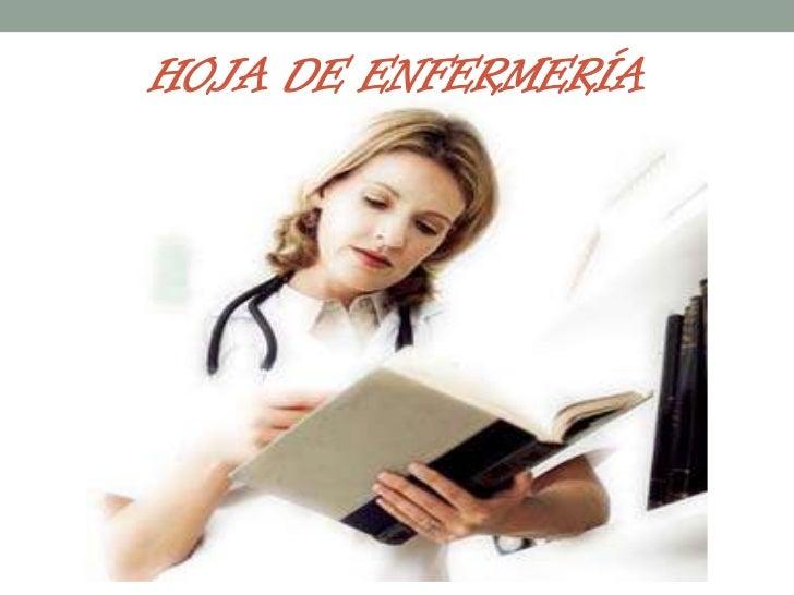 HOJA DE ENFERMERÍA