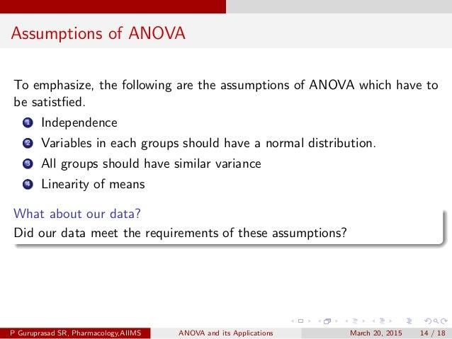 ANOVA and its application