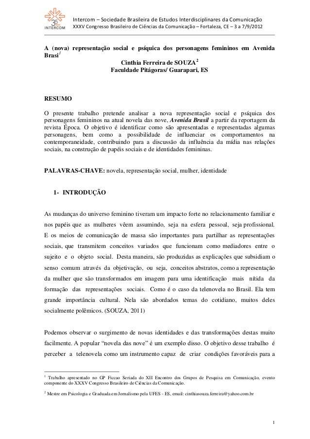 Intercom – Sociedade Brasileira de Estudos Interdisciplinares da Comunicação XXXV Congresso Brasileiro de Ciências da Comu...