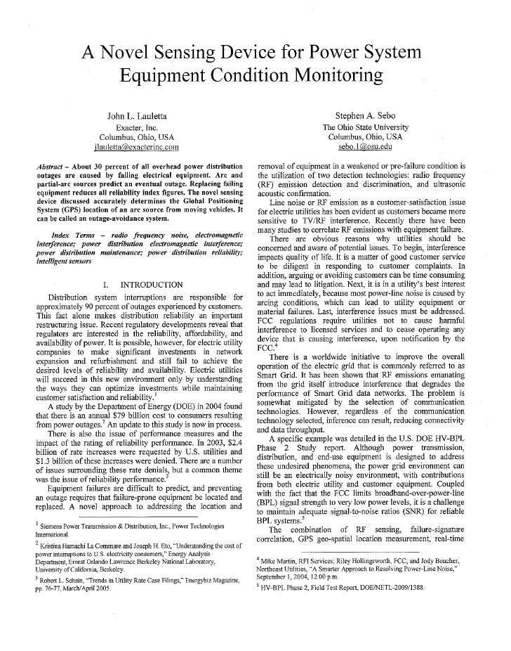 A novel survey approach for power system condition monitoring