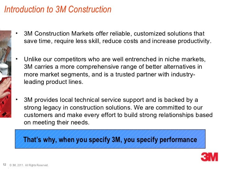 An Overview of 3M Canada: Construction Markets