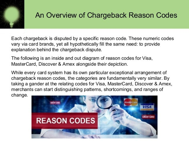 visa and mastercard reason codes