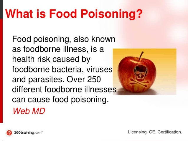 causes and symptoms of food poisoning