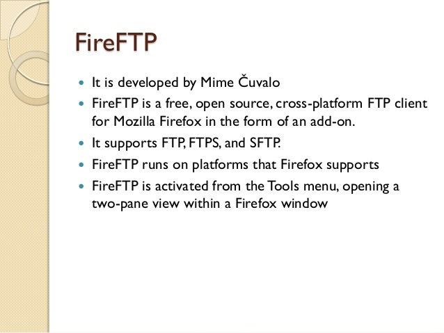An overview of ftp