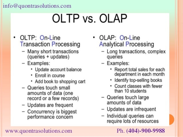 An overview of oltp vs olap by quontra solutions