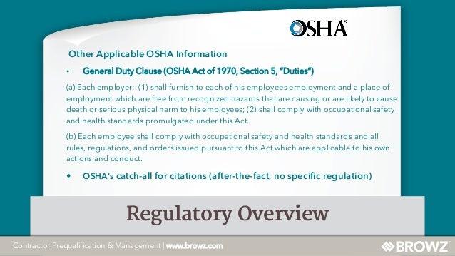 osha rules and regulations