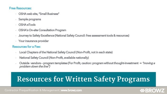 An Overview of OSHA Regulations and Safety Program Audits at BROWZ