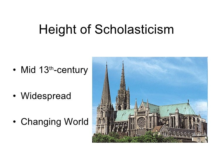 gothic architecture and scholasticism summary