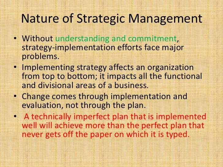 an overview of strategic management Strategic management journal the strategic management journal (smj), founded in 1980, is the world's leading mass impact journal for research in strategic management the smj publishes.
