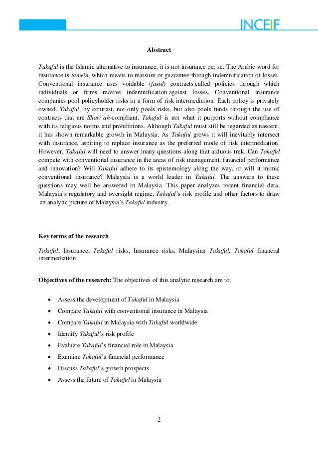 takaful vs conventional insurance pdf