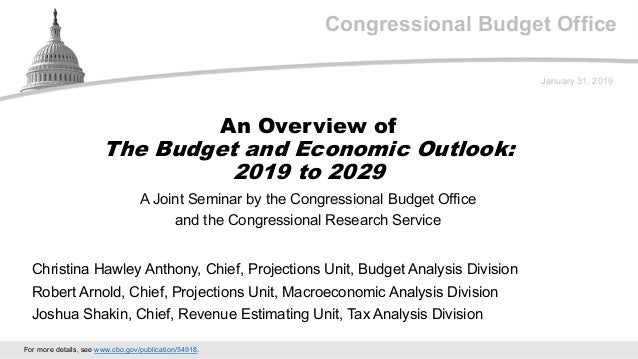 Congressional Budget Office A Joint Seminar by the Congressional Budget Office and the Congressional Research Service Janu...