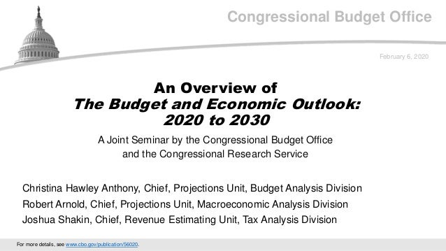 Congressional Budget Office A Joint Seminar by the Congressional Budget Office and the Congressional Research Service Febr...