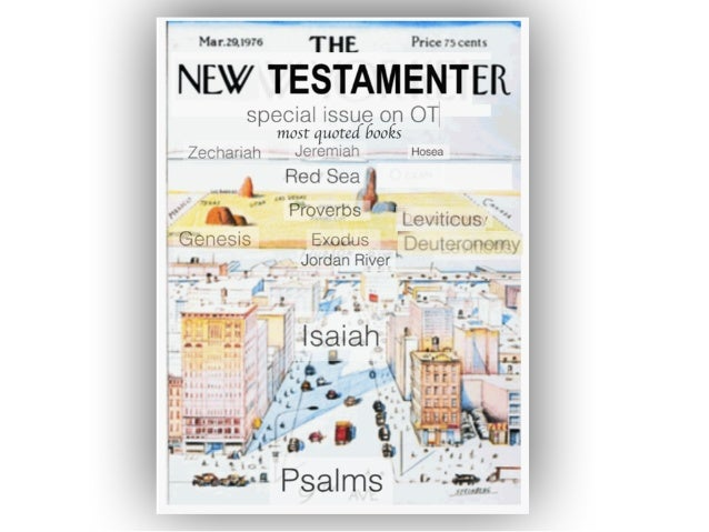 A view of the Old Testament from the New inspired in part by the iconic map of the world as seen from New York What are th...
