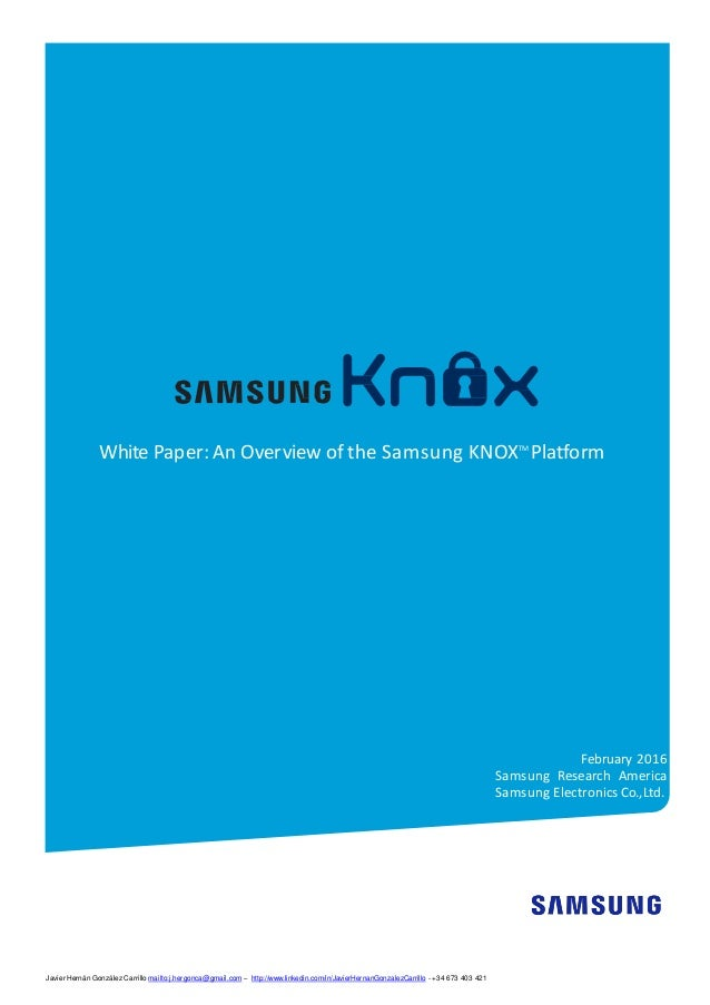 samsung research paper