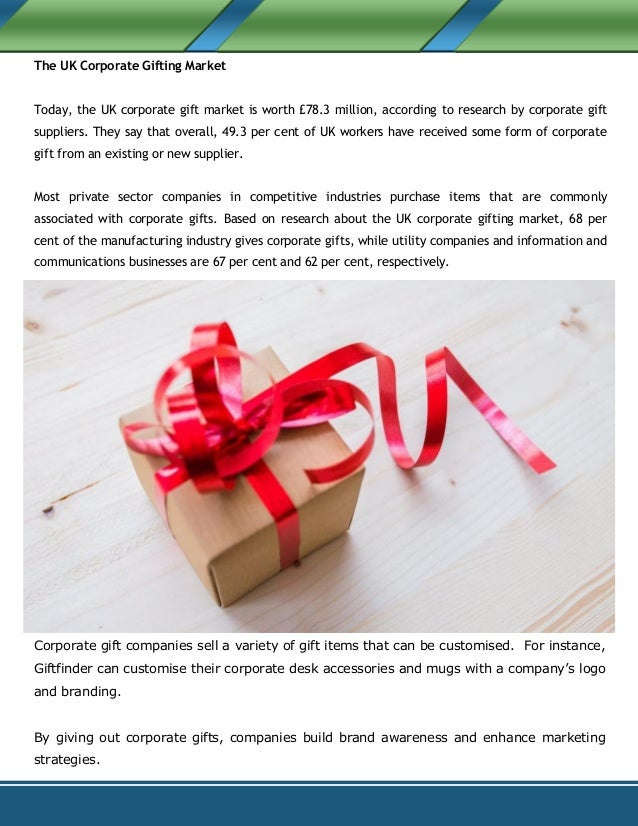 An Overview of the UK Corporate Gift Market