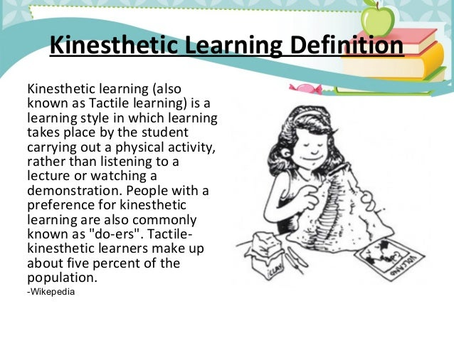 learning styles a look at auditory and visual learning Example one: visual, auditory and kinesthetic learning styles visual learning  styles – this means you learn by seeing and looking you will: • take detailed.