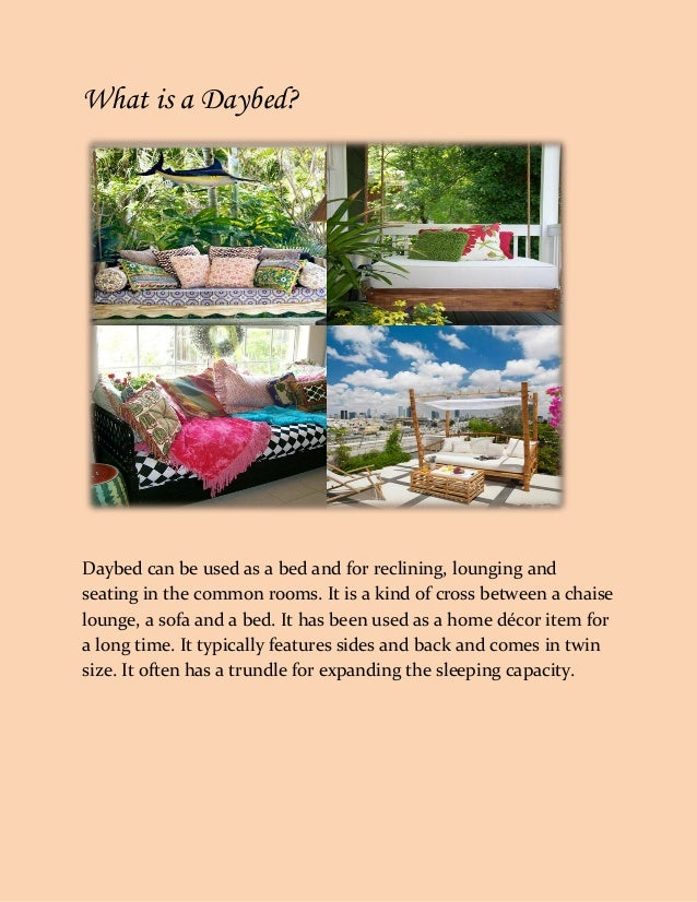 An Overview On Daybed