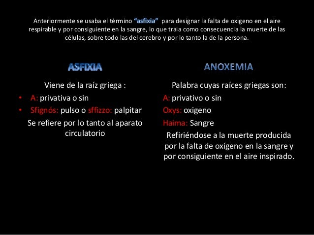 Anoxemia por ahorcamiento y anoxemia por extrangulación Slide 2