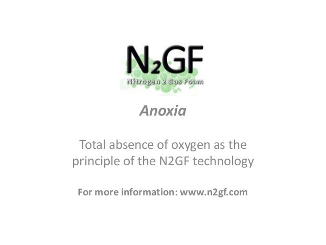 Anoxia Total absence of oxygen as the principle of the N2GF technology For more information: www.n2gf.com