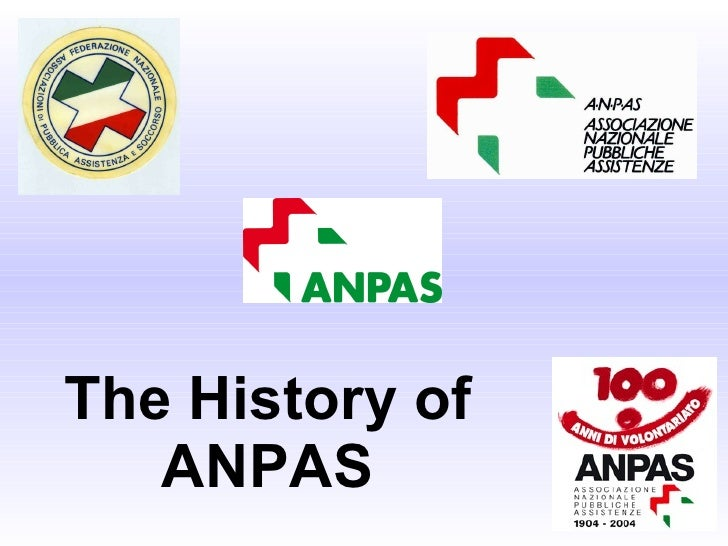 The History of ANPAS