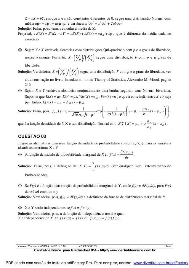 Exame anpec
