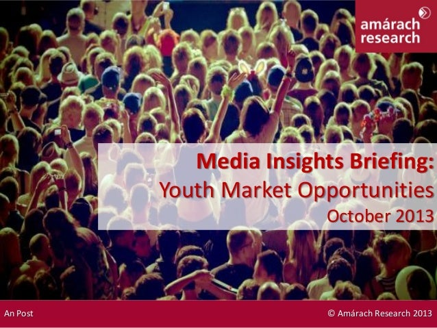 Drivers & Drinking Media Insights Briefing: Youth Market Opportunities October 2013 An Post © Amárach Research 2013